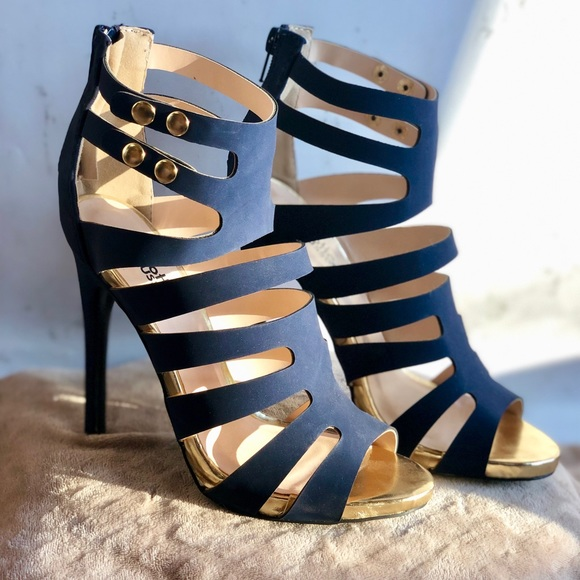 6d182a6998f Charlotte Russe Navy Heels NWT